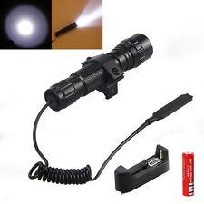 501B 5000LM XM-L T6 Tactical LED Flashlight Hunting Torch Mount Rifle Gun Rail