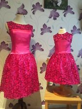 Mother And Daughter Matching Dress Set High Quality Pink perfect For Big Ocasion