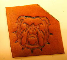 Bulldog  Leather Tooling Embossing / Clicker Stamp, Delrin / Acetal, NEW #027