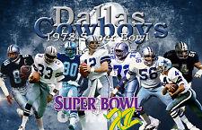 Dallas Cowboys Lithograph print of Dallas Cowboys Super Bowl 12  17 x 11