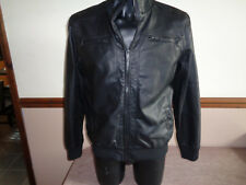 Mens Faux Leather Jacket by Brave Soul Biker