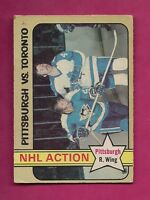 1972-73 OPC # 186 PENGUINS ED SHACK ACTION GOOD CARD  (INV#5630)