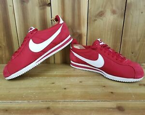 Nike Classic Cortez Nylon Varsity Red Retro Mens Trainers UK 9 807472-611 Eur 44