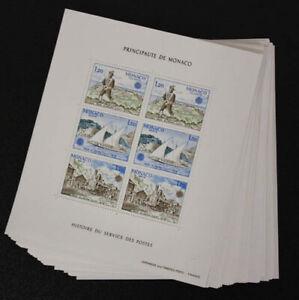 1979 Monaco; 100 mal Block Post- und Fernmeldewesen, **/MNH, Bl. 15, ME 1800,-