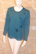 Sweat bleu vert neuf taille 44 marque gabirella K étiqueté à 39,90 € (ng)