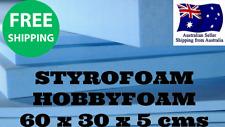 Styrofoam XPS Foam Board 60cm x 30cm x 5cm (ALL TYPES OF MODELLING) HOBBY FOAM