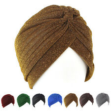 Fashion Men Women Stretchable Soft Indian Style Turban Hat Head Wrap Band Cap
