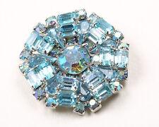 1950s Vintage  Blue Weiss Rhinestone Brooch