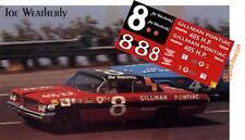 CD_1580 #8 Joe Weatherly '62 Gillman Pontiac   1:43 scale decals
