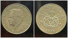 MONACO 10 francs 1978  ( bis )