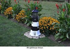 Amish-Made Replica Fire Island, Ny Lighthouse with Lighting - In 13 Sizes!
