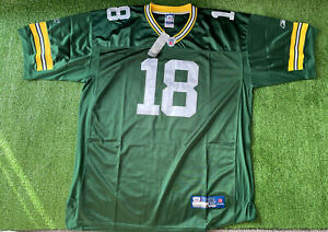 "Reebok NFL Green Bay Packers ""Cobb""Jersey #18 5XL Size 60 Green Retro Onfield"