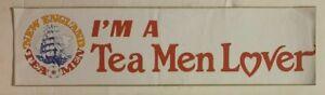 1970's New England Tea Men Bumper Sticker Soccer NASL