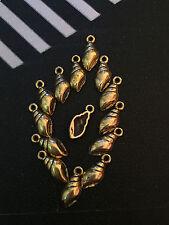 PJ332/20pc Tibetan Gold Conch Pendant Bead Charms Accessories wholesale