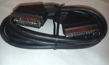 5 X Nero Cavo 1m SCART Lead con contatti nichel JOB LOTTO UK venditore #VID123