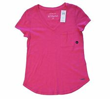 Abercrombie & Fitch A&F Essentials Women's Pink V-Neck Tee Shirt Sz XS