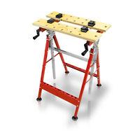 100 kg Werkbank Spanntisch Werktisch klappbar ausziehbar bis 124 cm Klapptisch