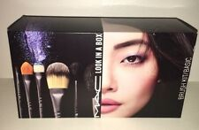 M.A.C MAC *AUTH* Cosmetics LOOK IN A BOX BASIC Brush Kit Set Limited 6 BRUSHES!