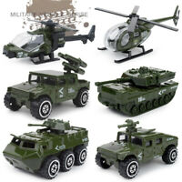 6PCS Military Vehicle Army Helicopter Tank Diecast Model Toy Vehicle Gift Kids