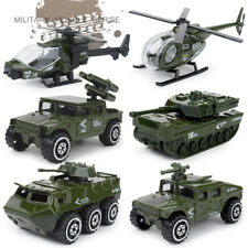 6PCS Military Vehicle Helicopter Army Tank Diecast Car Model Toy Vehicle Kids