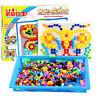 Peg Board Game DIY Mushroom Nails Jigsaw Puzzle Preschool Educational Toy