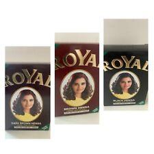 Royal Henna Indian Hair Colouring Powder Hair Dye/ All Colours