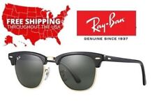 Ray Ban Clubmaster Classic RB3016 W0365 w/ G-15 Green Lens