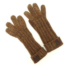 Fendi gloves Brown Woman Authentic Used Y754