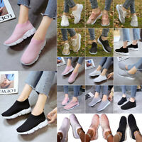Women Flats Casual Sneakers Trainers Lightweight Comfort Slip On Athletic Shoes