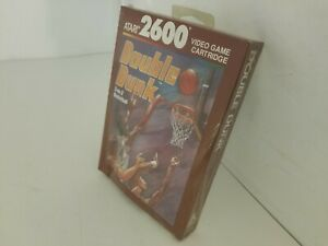NEW PAL VERSION W/CRUSHED BOX DOUBLE DUNK GAME FOR ATARI 2600 NOT FOR USA  E47