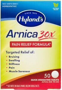 Arnica Montana 30x Tablets by Hyland's, Natural Relief of Bruises, Swelling and