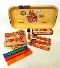 RAW GIRL TRAY 3 Pks Classic King Size Slim Rolling Papers Pre Rolled Tips BUNDLE