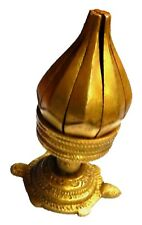 Tibetan Lotus Flower Turtle Base Incense Burner Brass Candle Stand Oil lamp 3""
