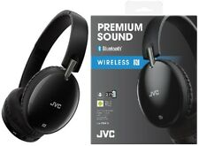 JVC HAS70BT BLACK Premium Sound Wireless Bluetooth Around Ear Headphone with NFC