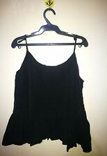 H&M FLOUNCY HEM CROPPED STRAPPY TOP TAG SIZE L
