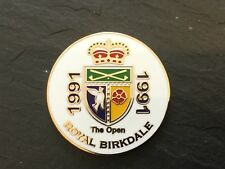1991 British Open Royal Birkdale Logo Golf Ball Marker plat Coin Ian Baker-Finch