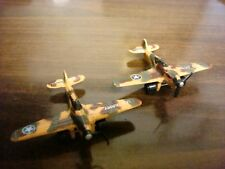 "2 Tootsie Toy P-40 Flying Tiger Diecast Metal Fighter Planes~2 1/4"" L"