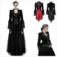 Punk-Rave Y-656 Female Black Red Velvet Gothic Lace Victorian Fancy Jacket Coat