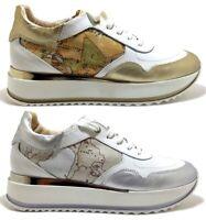 ALVIERO MARTINI 1 CLASSE Junior Geo scarpe sneakers donna pelle tela zeppa