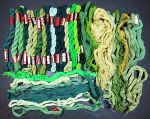 30x Needlepoint/Embroidery THREAD DMC Medici 1 ply wool-greens-IW44