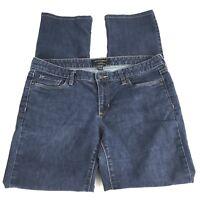 Banana Republic Womens Jeans Size 31/ 21L Dark Wash Straight Leg Stretch Denim
