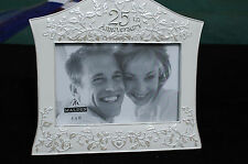 Malden 4 x 6  Ornate Resin Freestanding 25th Anniversary Photo Frame - no 6830