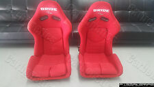 Bride Stradia II Style - XL SIZE FRP RED Racing Seat Bride Center Writing