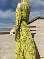 Irregular Self Portrait Floral Printed Maxi Dress M/L runs big