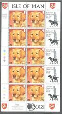 Isle of Man-Dogs-Labrador mnh sheet 1996 Guide Dog-pets-Dogs