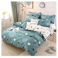 Rayhoo Bed Set Twin Sheets Set Cute Cat – 3 Piece Bedding Sets One Comforter Cov