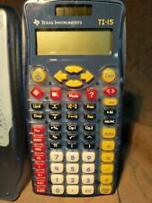 Texas Instrument Ti-15 Solar Powered Calculator W/ Cases Tested