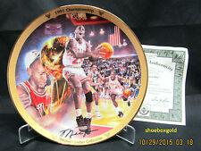 Michael Jordan Chicago Bulls Ltd Edition UDA Collector's Plate 1991 Championship