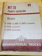 INTERNATIONAL TRUCKS MT-70 PARTS CATALOG -  L-200 201 202 204 205