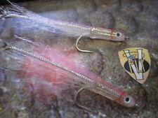 V Fly Size 1/0 & 6 Surf Candy Predator Baitfish Saltwater Flies